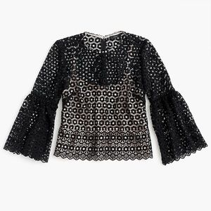 J. Crew Tops - J. Crew Daisy Lace Bell Sleeve Top